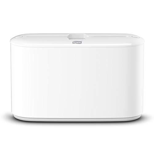 Tork 552200 Dispensador de toallas de mano entreplegadas para mostrador/despachador de papel secamanos compatible con el sistema H2, blanco, 21,8 x 32,3 x 11,6cm
