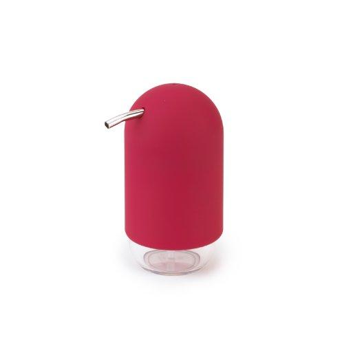 Umbra–Dispensador de jabón líquido Umbra Touch rojo–Accesorio de baño