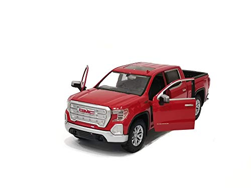 2019 GMC Sierra 1500 SLT Crew Cab Pickup Truck Red 1/24-1/27 Diecast Model Car by Motormax 79361