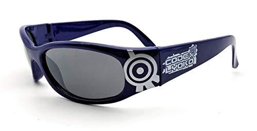 Code Lyoko Gafas de Sol Niño 100% UV Protección Solar, Más de 3 Años. (Azul)