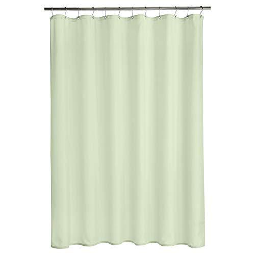 AmazonBasics - Cortina de ducha de poliéster estilo tafetán, brote verde, 183 x 200 cm
