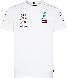Mercedes Benz AMG Formula 1 Petronas White 2018 Men's Driver Team T-Shirt (Small) S