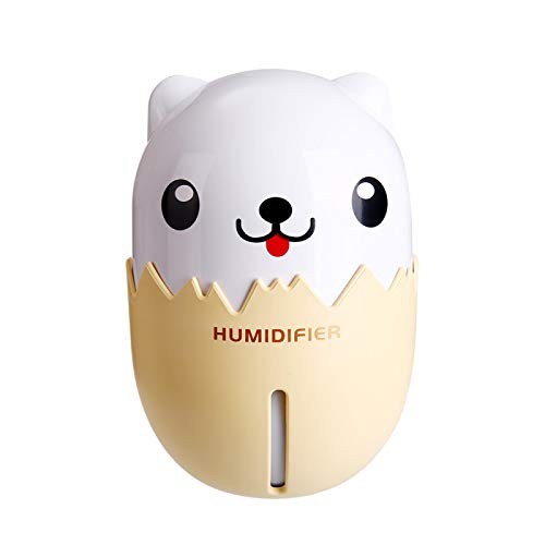 Humidifiers For Bedroom Diffuser Air Purifier Air Humidifier 350Ml Essential Oil Diffuser Aroma Lamp Aromatherapy Electric Aroma Diffuser Mist Maker With Led Light For Home Lightyellow