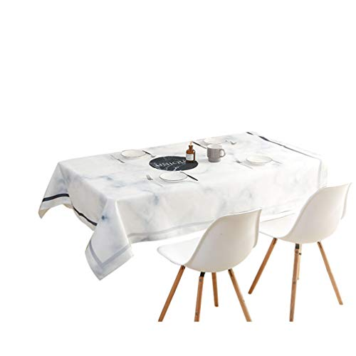 Jitong Wasserdicht Tischdecke Marmor Gartentischdecke Elegante Tischtücher für Küchentisch Speisetisch - Unique, 140 * 180cm