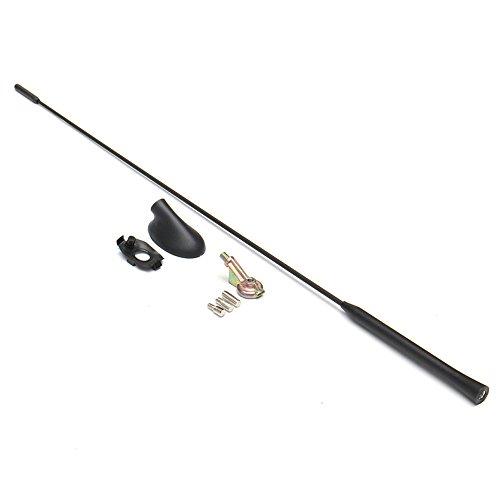 PolarLander Car Styling Toit AM/FM Antenne Noir Antenne Mast Signal avec Base Kit