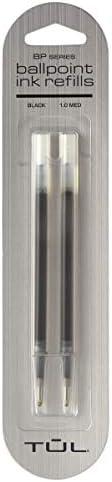 TUL Ballpoint Pen service Refills Medium Point Black Ink 1.0 mm Pack Limited time cheap sale