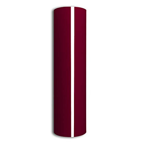 Maroon Heat Transfer Vinyl 10x5FT PU Iron on HTV Vinyl Roll for DIY T-Shirts Garments Bags and Other Fabrics (Maroon)