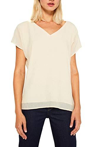 ESPRIT Collection Damen 119EO1F010 Bluse, Beige (Sand 285), (Herstellergröße: 36)