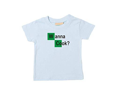 Enfants Tee-Shirt Breaking Bad Blanc Cook Chemistry Walter Culte - Bleu Clair, 12-18Monate