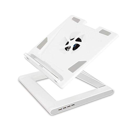 HYY-YY Vertical Laptop Tablet Stand For Desk, Adjustable Foldable Portable Ventilated Desktop Laptop Holder With Lightweight Anti-Slip With Fans For Elevating Any Laptops