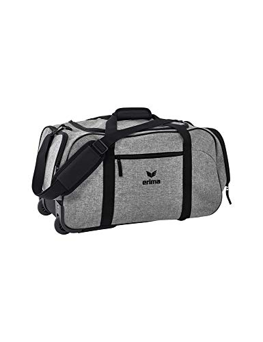 ERIMA Travel Line koffer, 55 cm, 50 liter, grijs melange/zwart