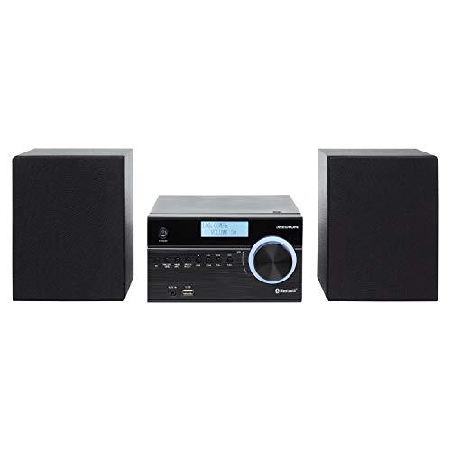 MEDION P4187 Micro Audio System Kompaktanlage (DAB+, PLL UKW Radio, Bluetooth, USB Anschluss, AUX, 2x50 W)