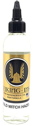 VERDÜNNERUNG für Tätowierfarbe GOLD WITCH HAZEL 4oz (120ml) VIKING INK USA, Mixer für farbige und schwarze Tinten VEGAN