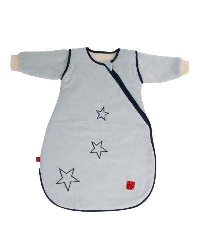 Kaiser 65070229 Schlafsack STAR sidezip, Ganzjahresschlafsack, Arme abtrennbar, 90 cm, hellblau