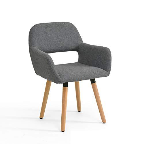 LJZslhei Stuhl Massivholz Stuhl Einfache Moderne Computer Stuhl Kreative Zurück Schreibtisch Stuhl Freizeit Home Stuhl Esszimmerstuhl Grau