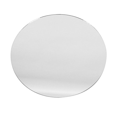 "Craft & Party Round Glass Mirror Wedding Banquet Table Centerpieces, Smooth Edges (Sets of 12) (12"")"