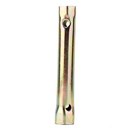 Fydun Bujía de la Llave de Vaso doble extremo 16/18 mm 130 mm galvanizado de gran alcance llave de zócalo herramientas de reparación de neumáticos para la motocicleta y automóviles