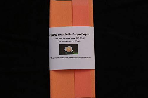 Gloria Doublette Crepe Paper - Papel crepé, Color salmón y Rosa