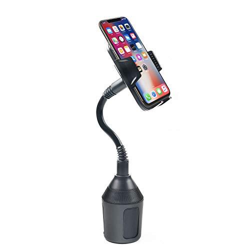 DBREAKS Universel Support De Voiture Support de Fixation Réglable sur Porte-Gobelet de Voiture avec Cou Flexible de 8.4 cm pour iPhone, Smartphone