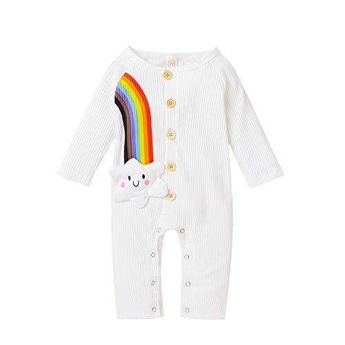 Carolilly Body de bebé con bordado de arcoíris para bebé, unisex, manga...