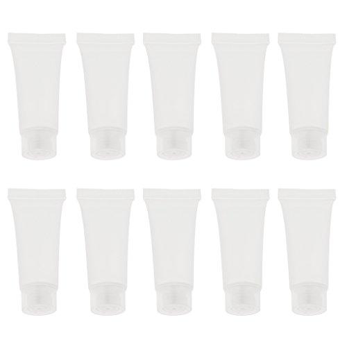 CUTICATE Set de 10pièces 10g Tube Plastique Vide Rechargeable à Lotion/Crème Corps Lotion - 10g