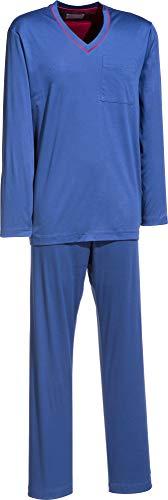 Novila Herren-Schlafanzug Interlock-Jersey Kobalt Größe 56