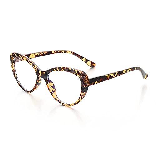 YOUQU Gafas Luz Azul,Anti Fatiga Ocular,Protección Ocular contra La Luz Azul,Monitor De Computadora,Gafas para Juegos,Cuidado De La Visión,Nerd,Gafas De Lectura,Unisex,Moda Vintage,Leopardo