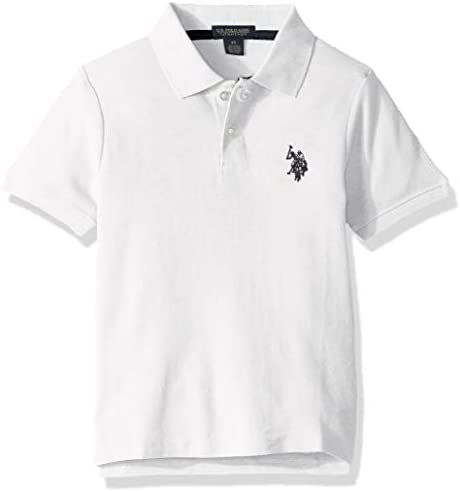 U S Polo Assn Boys Little Short Sleeve Performance Polo Shirt White 5 6 product image