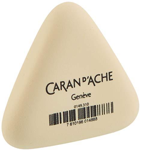 Caran d'Ache d´Ache Radiergummi Dreieckig Beige ohne Weichmacher, Größe: ca. 2,5cm, 6707.350, 149.310