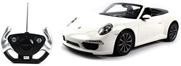 AMPERSAND SHOPS Cool and Fast White Porsche Carrera 911 Electric Car 14.5