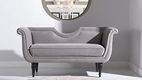 Jennifer Taylor Home Havilland Upholstered Loveseat, Opal Grey