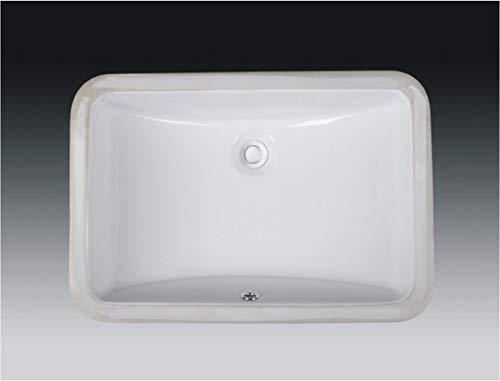 Wells Sinkware Rectangular Vitreous Ceramic Lavatory Single Bowl Undermount White 21 x 15 x 7