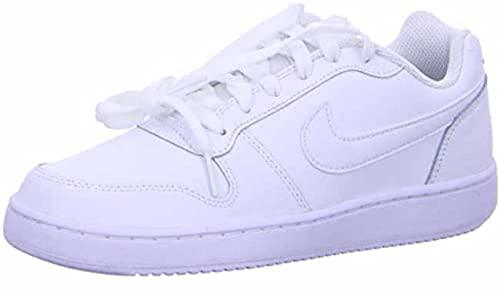 Nike Women's Ebernon Low Sneaker, White/White, 9 Regular US