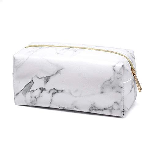 Fliyeong - Bolsa de maquillaje multifuncional, portátil, con cremallera, color dorado