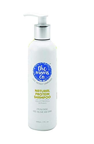 The Moms Co. Natural Protein Shampoo (200ml) to Strengthen Hair, Add Volume, Shine and Hair Fall - 6.8 Oz