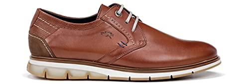 Fluchos   Zapato de Hombre   Kemp F0776 Habana Cuero Com.1   Zapato de Piel   Cierre con Cordones   Piso TR