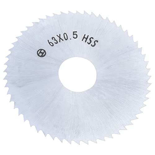63mm Mini Blade de sierra circular HSS Discos de rueda de 72 dientes 16 mm Apertura for madera Herramienta de corte de placa de metal de aluminio ZRONG (Blade Length : 63x0.8)