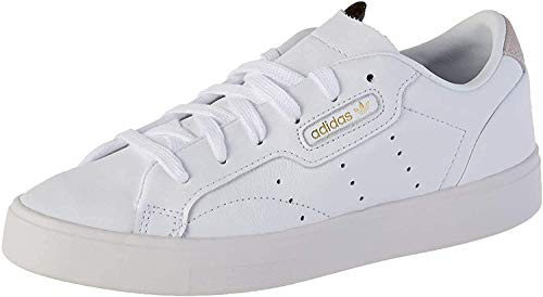 adidas Sleek, Zapatillas Mujer, Color Blanco Footwear White Crystal White 0, 39 1/3 EU