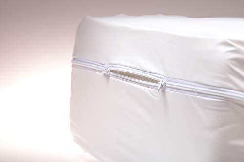 A2075 wischdesinfektionsgeigneter Matratzenvollbezug, verschieden Größen, Matratzenschutz/Inkontinenz/Nässeschutz/Pflege/Schutzauflage/Encasing/Inkontinenz/weiß (140x200)