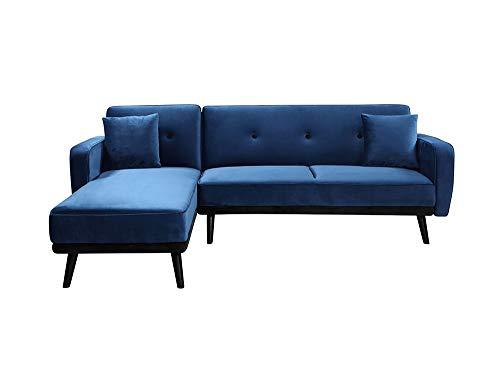 Canapé d'angle Bleu Velours