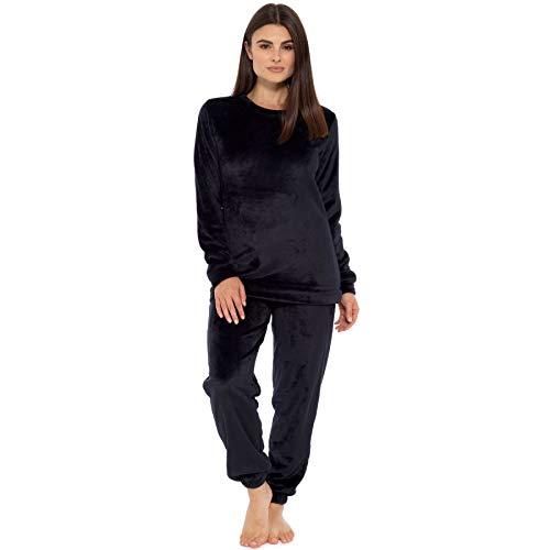 Style It Up - Pijama para mujer con forro polar suave y