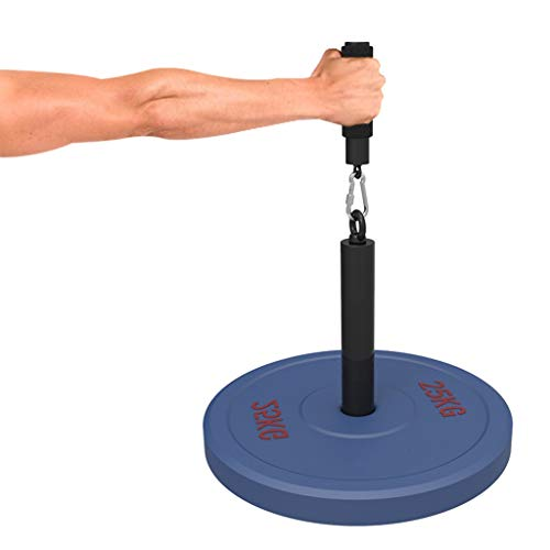 YCDJCS Unterarms Trainer hohe Qualtiy Handgelenk Rollen-Lockenwickler Locken Grip Gym Handgelenk Locken Exerciser Trainer Unterarms Stärkungs Lockenwickler Armtrainer (Color : Black, Size : 30cm)