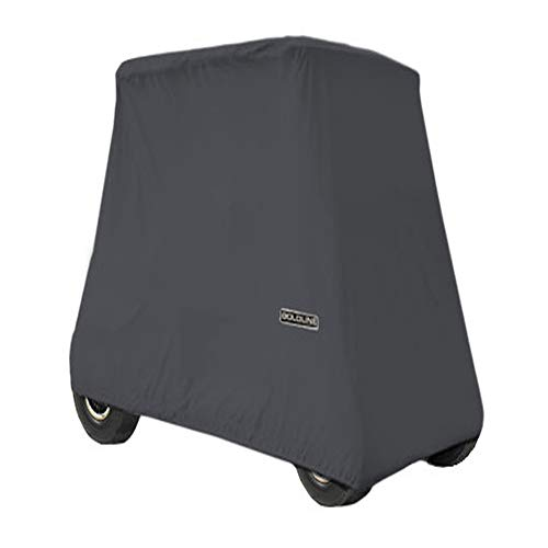 Best Review Of Goldline Universal Slip-On 4 Passenger Golf Cart Cover 106L x 48W x 62H - Charcoal