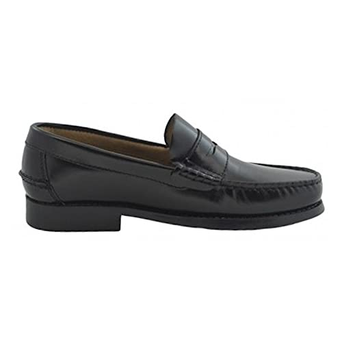 Zapatos Castellanos Marca BENAVENTE CLÁSICO Antifaz Piel Negro NIÑO