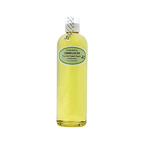 Camellia Seed Organic Carrier Oil Cold Pressed 100% Pure 12 Oz