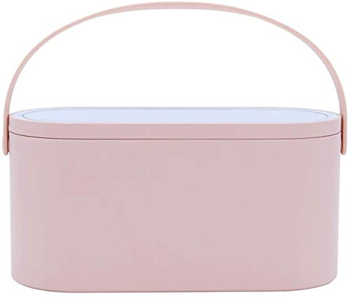 HHYSPA Travel Makeup Case with Led Mirror, Led Mirror Portable Makeup Case Bag Professional Cosmetic Box For Women with USB Port In 360 Degree Rotation