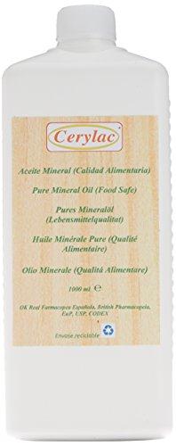 CERYLAC Aceite Mineral para Madera, Pizarra o Piedra - 1000 ml. Calidad alimentaria....
