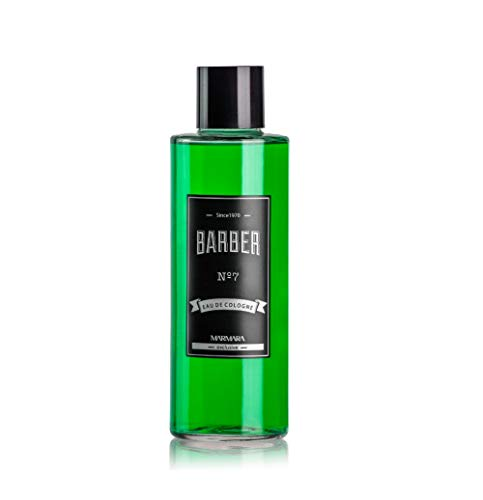 BARBER MARMARA No.7 Eau de Cologne Men Splash en botella de vidrio 1x 500ml - After Shave Men - Agua perfumada - Refresca los refrescos - Perfumados para hombre - Colonia de barbería