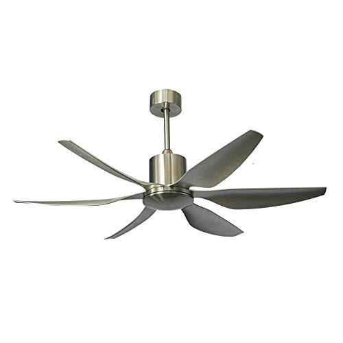 Ventilador de techo silencioso de 54/66 pulgadas, ventilador de techo de conversión de frecuencia con control remoto, aspa de plástico de 5 aspas, velocidad del viento ajustable de 5 velocidades