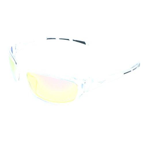 VertX Men's Polarized Sunglasses Sport Cycling Running w/Free Microfiber Pouch – Clear Frame – Orange Lens